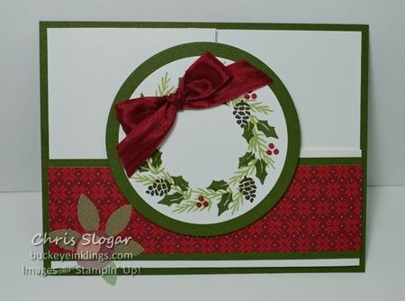 Berry Merry Wreath Fun Fold, Stampin' Up!