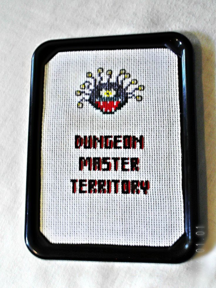 dungeons and dragons embroidery | Advanced Dungeons and Dragons Dungeon Master by agorby00