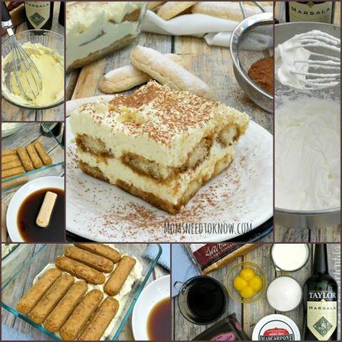 Authentic Tiramisu Recipe with Marsala Wine collage