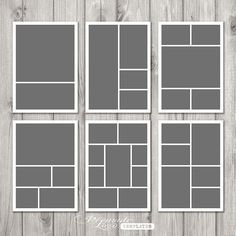 indesign photo collage template - Google Search