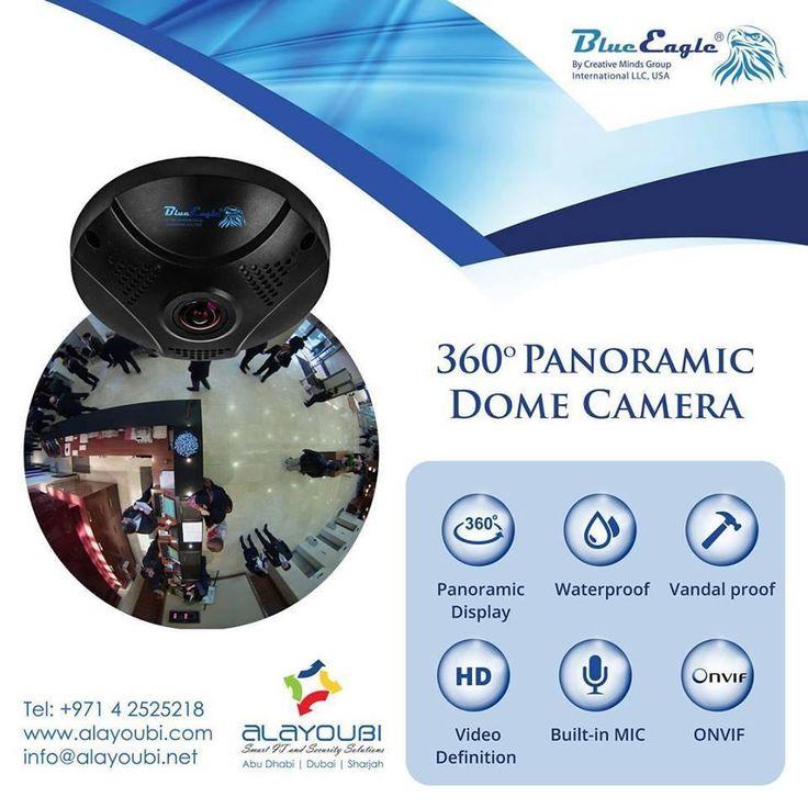 360° Panoramic Dome camera  http://www.alayoubi.com/solutions/cctv-video-surveillance-system/