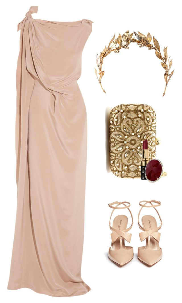 """Sin título #1609"" by nataliac ❤ liked on Polyvore featuring Roland Mouret, Gianvito Rossi, Laurel Wreath Collection and Bobbi Brown Cosmetics"