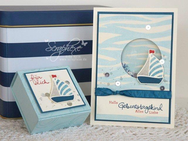 Maritimes gift set, Swirly Bird scraphexe.de,