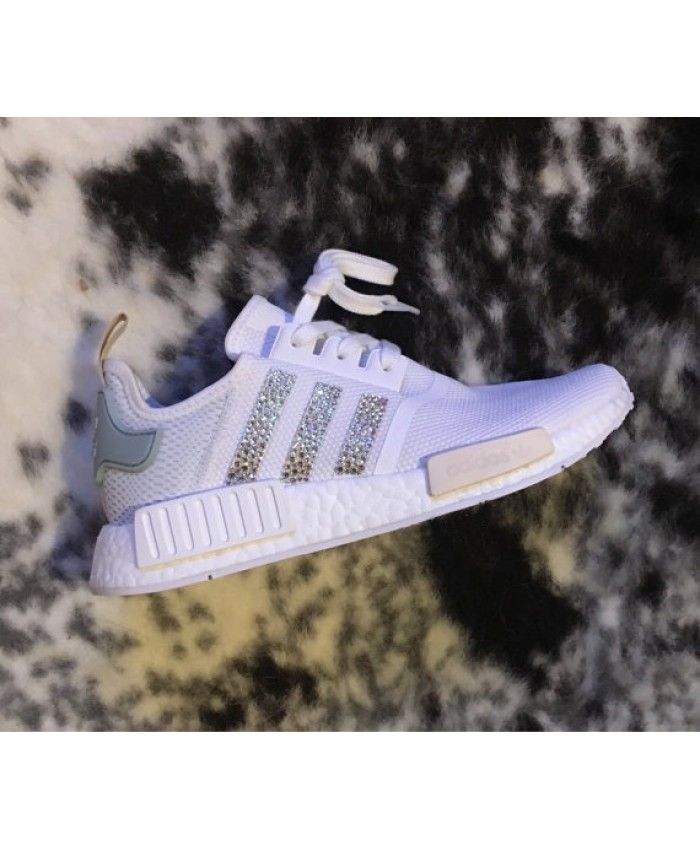 premium selection f20d1 80410 Adidas NMD Crystals White Grey Trainers