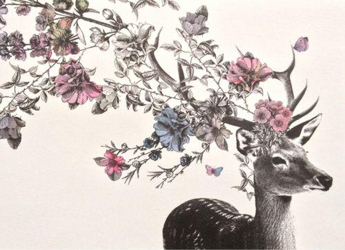 Deer tattoo cool idea