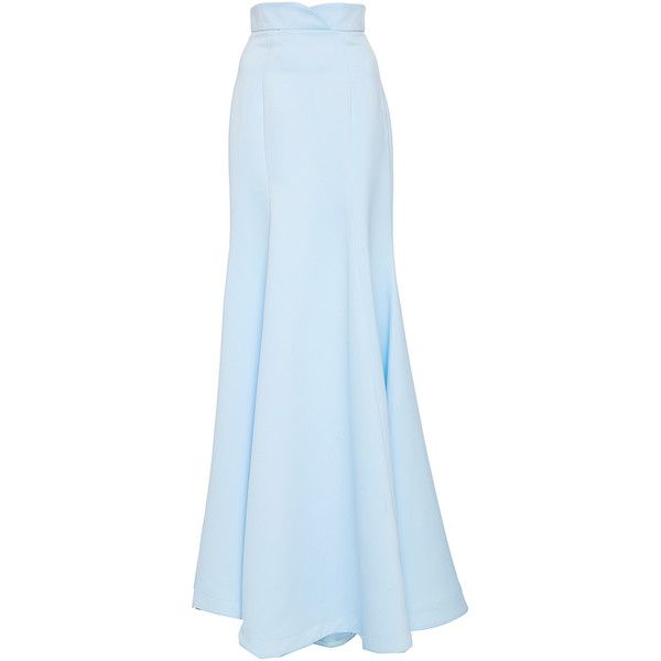 Lana Mueller     Bluebeu Sheath Maxi Skirt ($675) ❤ liked on Polyvore featuring skirts, blue, floor length skirts, blue skirt, blue high waisted skirt, long skirts and high waisted long skirt