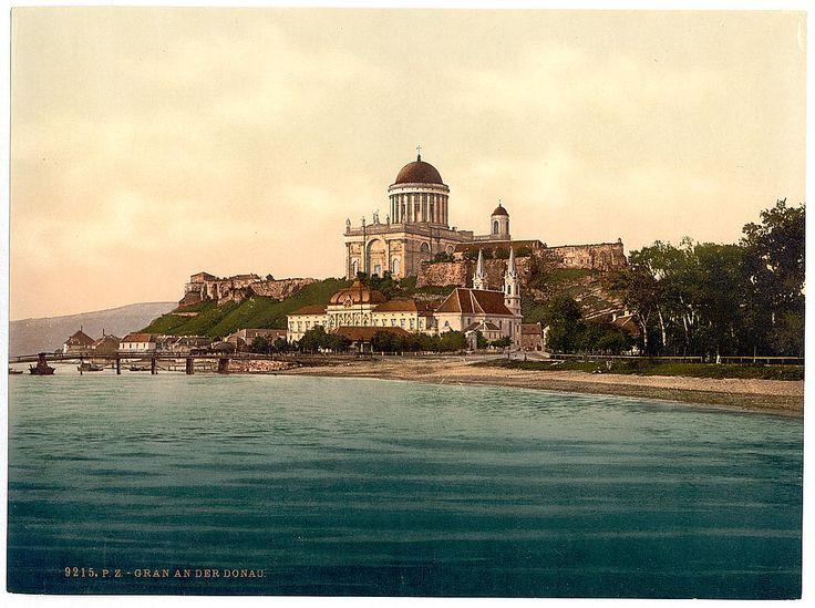 Esztergom látképe a 19. században (fotó: loc.gov)
