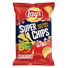 Chips! De naturel met ribbels is heerlijk lactosevrij. En zelfgemaakte dipsausjes smaken er prima bij   Iedere supermarkt