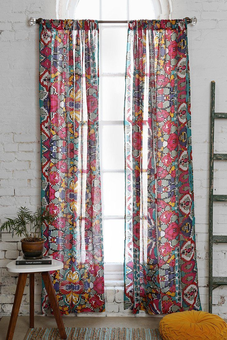 magical thinking painted eye curtain urban outfitters
