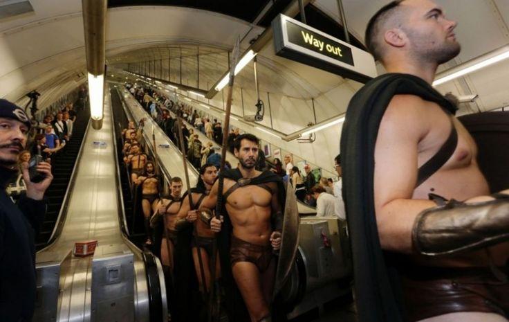 300 Spartans Storm London Underground