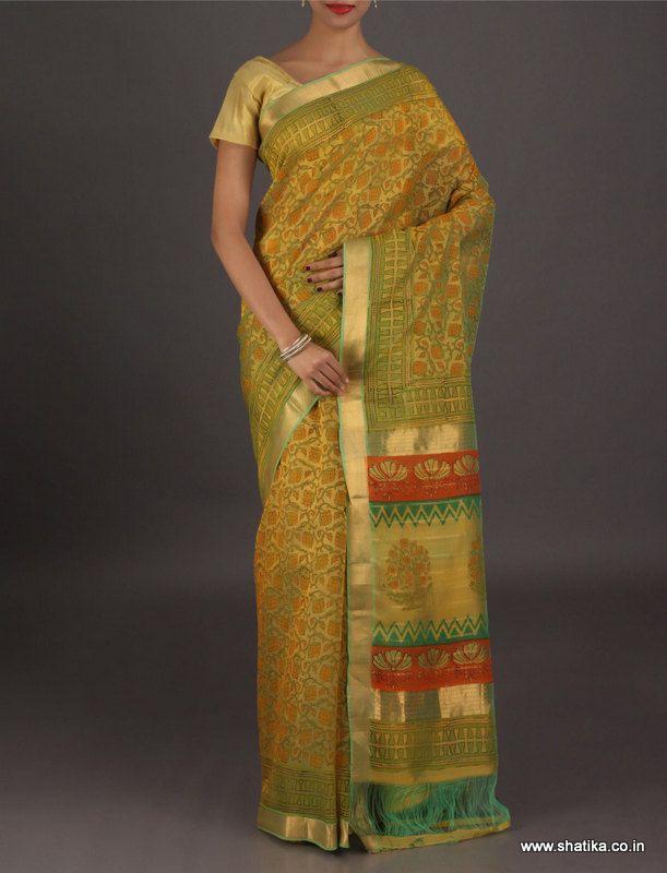 Jasmine Katrauaa Jaal Lovely Looking #Jaipur #BagruPrintSaree