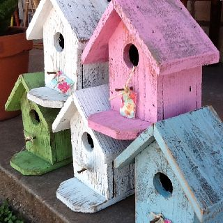 Bird houses at Nest Vintage
