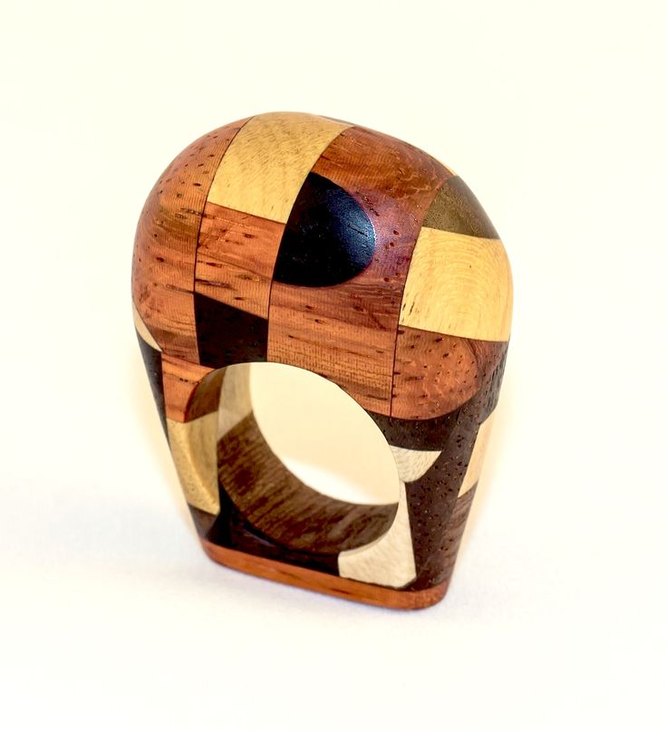 Ring of a mixture of exotic woods.