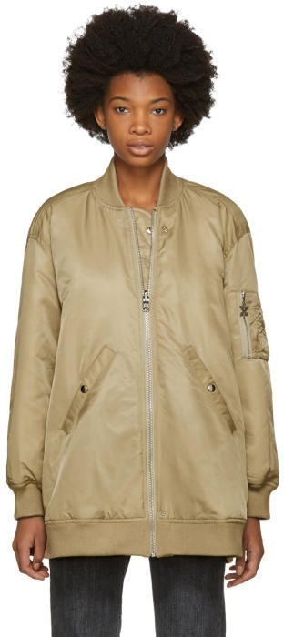Opening Ceremony Reversible Tan and Pink Nylon Bomber Jacket