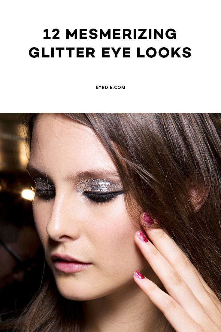 Sparkle shine glitter hair and makeup feathers shimmer - The Best Glitter Eye Makeup Looks To Wear On New Year S Eve
