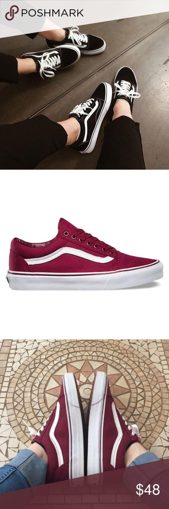 Maroon Vans / women's Genuine women's maroon low top Vans! Great condition! ♥️♥️♥️♥️♥️ PRICE FIRM Vans Shoes