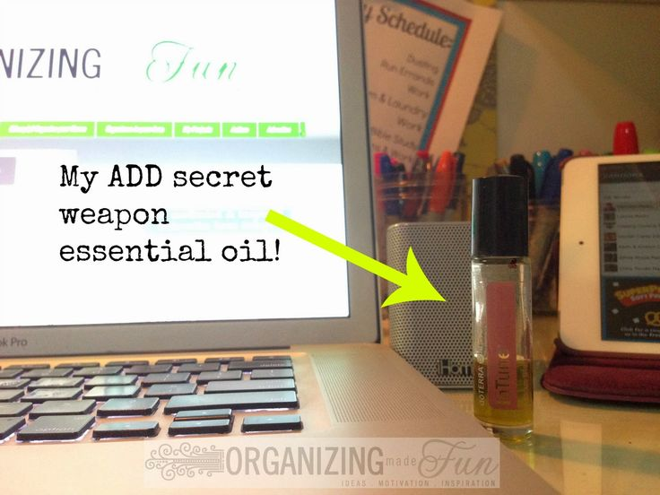 """My ADD """"secret weapon"""" essential oil blend to help with focus :: OrganizingMadeFun.com"""