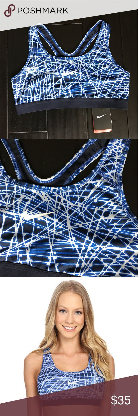 Nike Pro Classic Tracer Sports Bra Turn up the heat on an otherwise everyday workout with the intense Pro Classic Tracer Sports Bra. Designed for medium-impact sports like cycling, dance, and cardio classes. Compression fit keeps everything tight to the body for maximum support during high-performance activity. Dri-FIT™ high-performance fabric wicks perspiration away from the body and towards the surface where it can evaporate. Nike Intimates & Sleepwear Bras