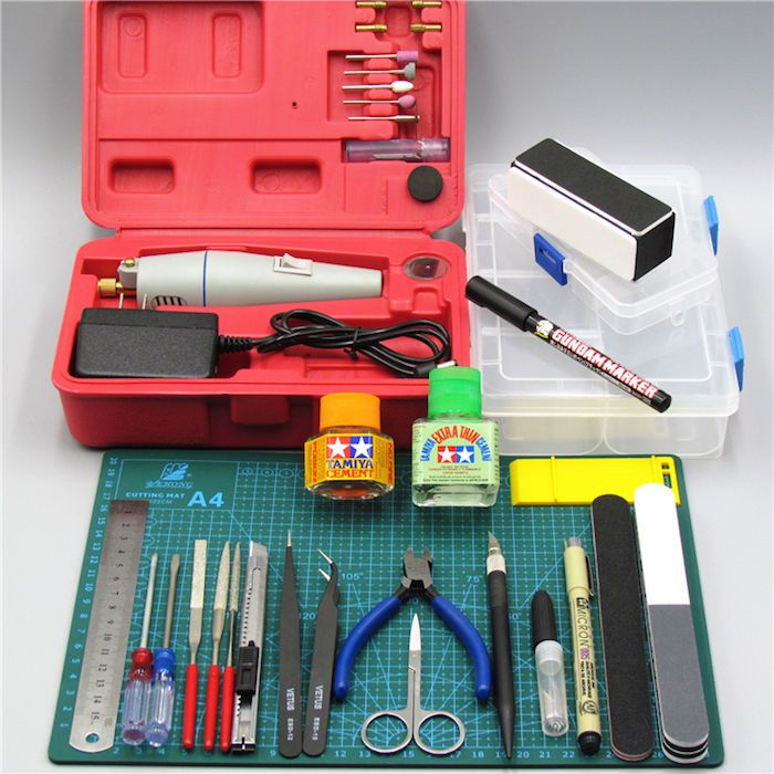 Perfect Accessory for Hobby Modelling Tools Deluxe Tamiya Grill Full Set ++ pcs #Mixitem