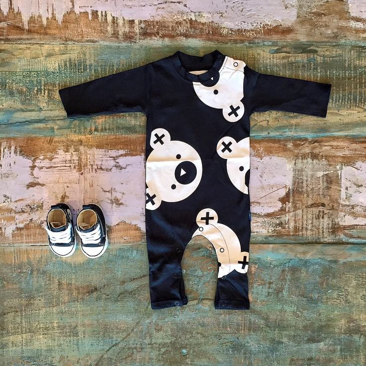 Huxbaby falling bears romper & Converse baby Chucks, available in store & online.   www.tinystyle.com.au/shop-insta  #organic #unisex #baby #tinystyle
