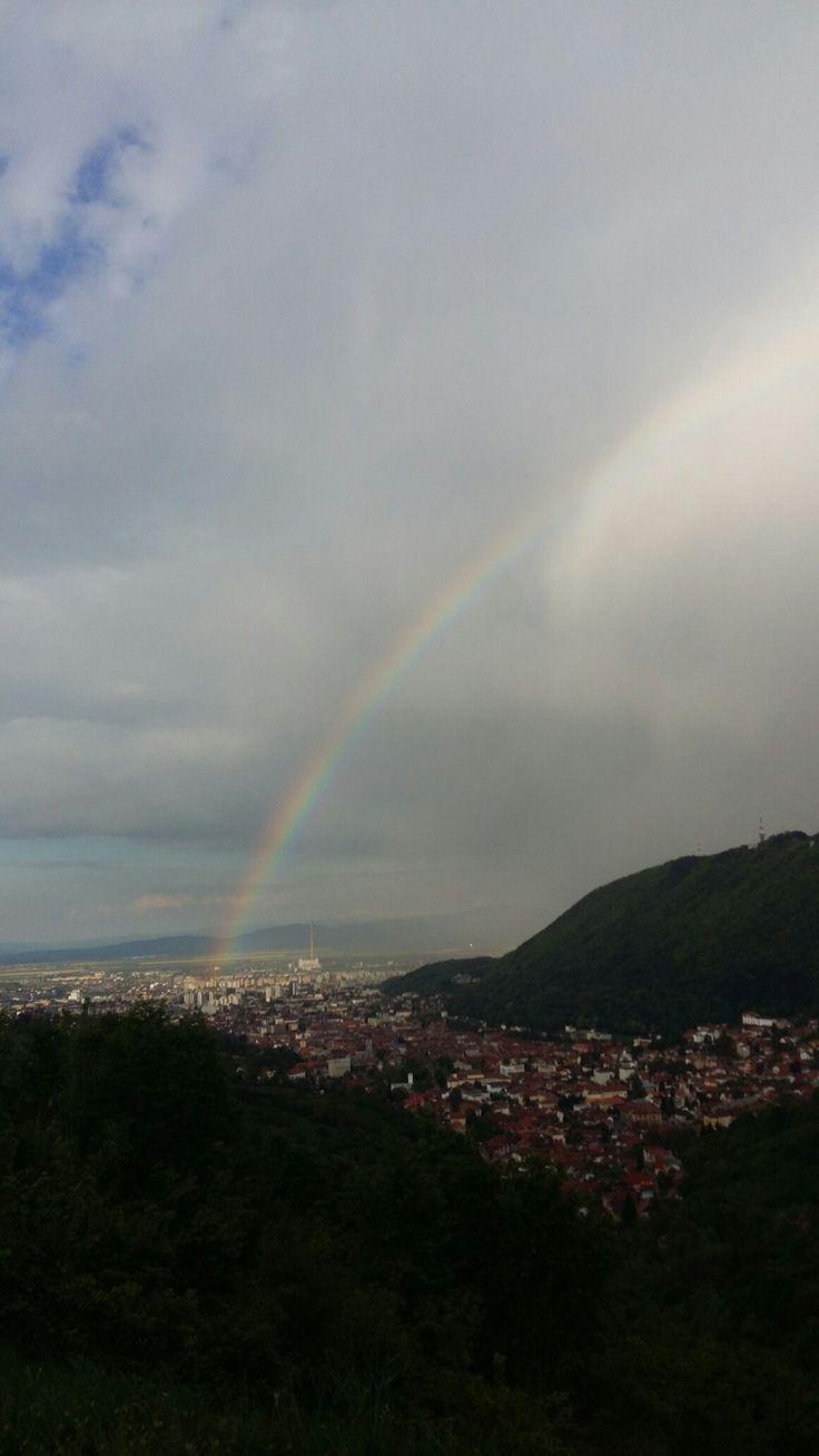 #amazing #blessed #Rainbow #rain #sun @ Belvedere Poiana Brașov, Brașov, Ro