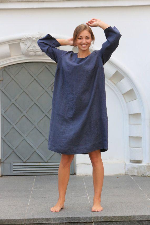 Linen dress. Linen tunic dress / loose linen dress / women's tunic
