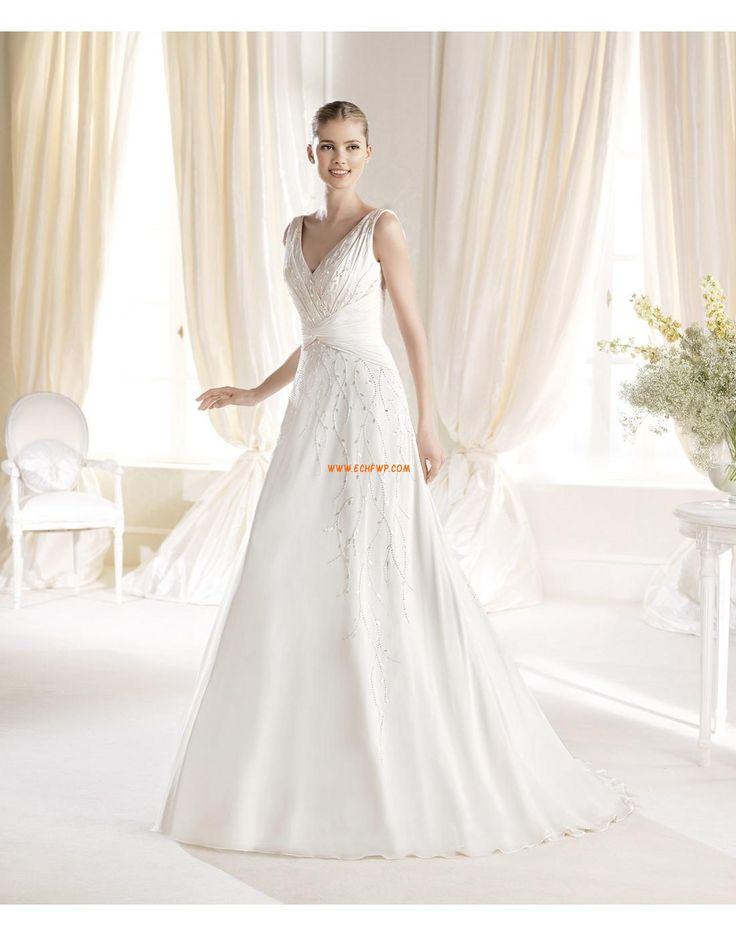 Små Hvite Kjoler Organza Naturlig Bryllupskjoler 2014