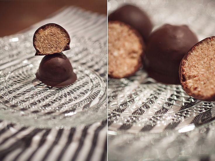 Chokladdoppade pepparkakspraliner