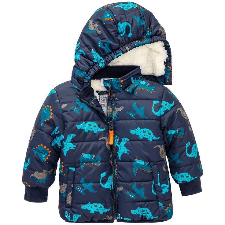 Baby Winterjacke mit Plüschfutter #babymode #babyclothes #babyboy