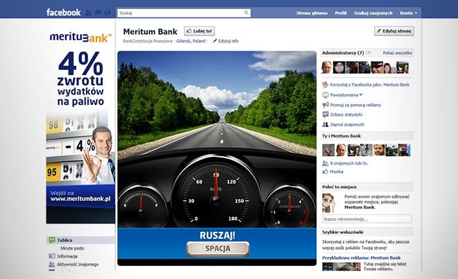 "Meritum Bank: ""Oszczędzam Paliwo"" campaign - Jamel Interactive interactive agency Gdansk, Tricity"