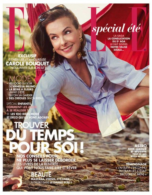 carole bouquet en couverture de elle cette semaine. Black Bedroom Furniture Sets. Home Design Ideas