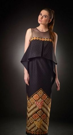 Batik for evening dress