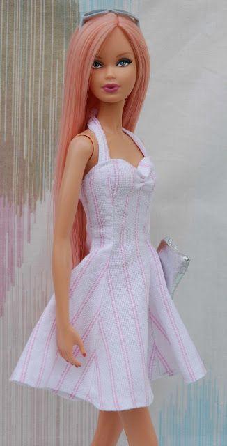 Barbie collector and creation: Summer dress pattern (original Slovak)