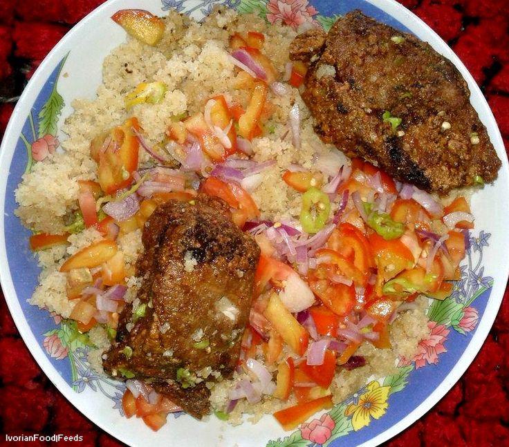 Aujourd'hui, NegroNews vous propose de découvrir un plat national ivoirien : le Garba Temps de préparation : 15 minutes Temps de cuisson : 15 minutes Ingrédients (pour 2 personnes) : – 1 tranche de thon frais de 300 g environ – 1 boule d'attieké (couscous de manioc, que l'on trouve facilement dans les épiceries exotiques) …