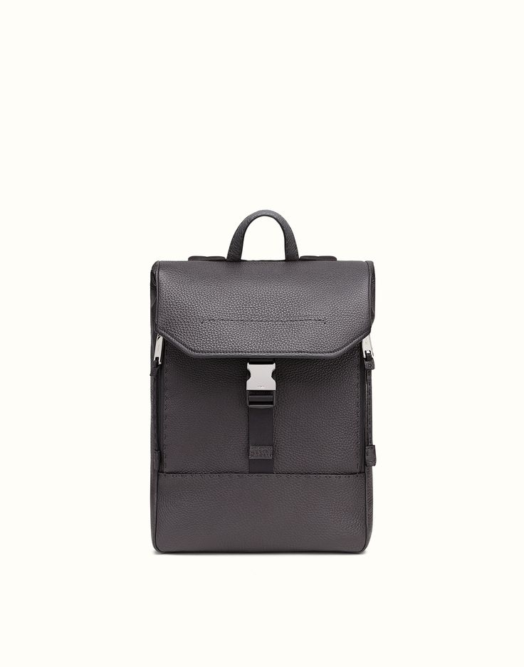 ... promo code 08fc2 89f03 SELLERIA BACKPACK Black Selleria textured Cuoio  Romano leather backpack with two outer ... 8d0a7c7952