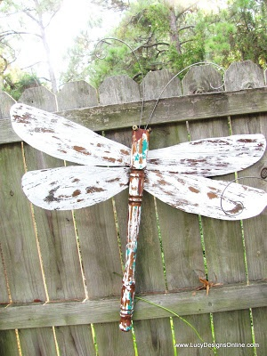 Dragonflies - Made from old table leg and ceiling fan blades