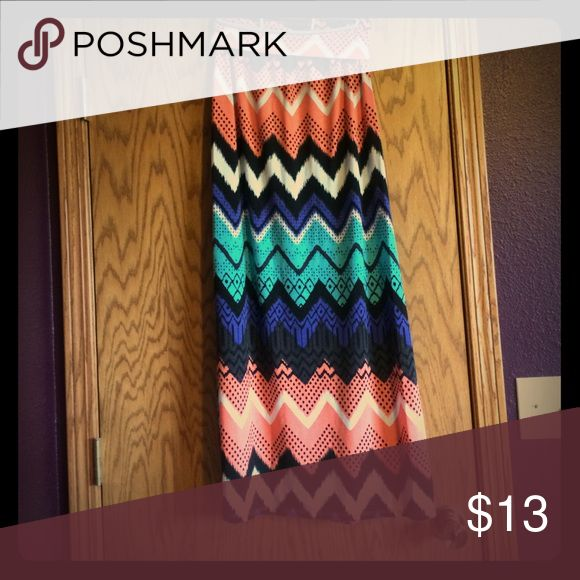 Aztec maxi skirt Colorful Aztec maxi skirt! Size medium. Has slits on both sides. Has a lot of life left in it! Vanity Skirts Maxi