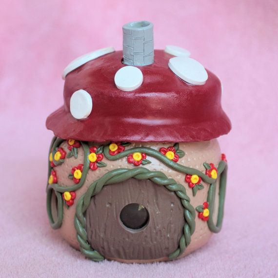 Mushroom Fairy Glow House by JadedJennifer on Etsy