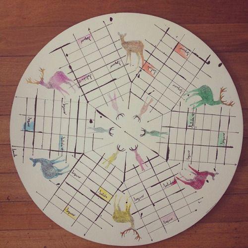 "De la serie Parqués 6 "" Ciervo cromático "" pieza única #himallineishon #illustration #homedecor #handmade"