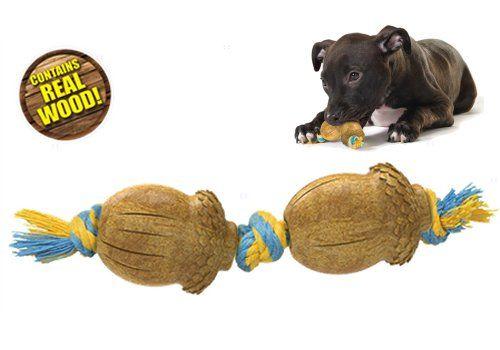 """Jouet """"DOGWOOD"""" 7.20e -procure des heures de mâchage • Jouet PARFAIT pour les petites races de chiens • Combine du vrai bois avec du caoutchouc, fait de ce jouet un bâton plus sûr et plus résistant • Non toxique, matériel résistant plus sûr que les vrais bâtons • Jouet amusant pour votre chien, se déplace en roulant • L'odeur naturelle du bois attire et maintient l'intérêt du chien pendant des heures Dimension : 15 cm."""