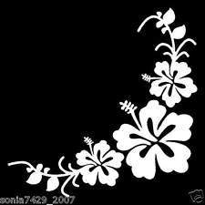 Lindo par CARRO del coche del vinilo de la etiqueta engomada flores en las ventanas ESQUINAS IZQUIERDA Y DERECHA