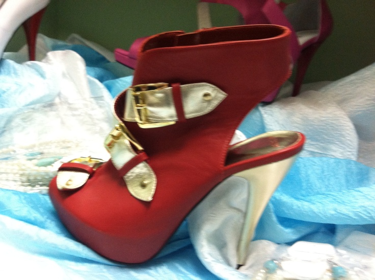 Hot red booties, by Ula's Fashion CA.