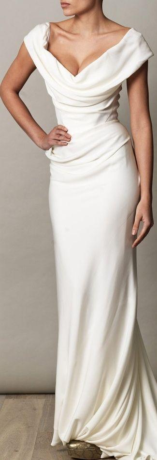 VIVIENNE WESTWOOD GOLD LABEL Cocotte georgette drape dress