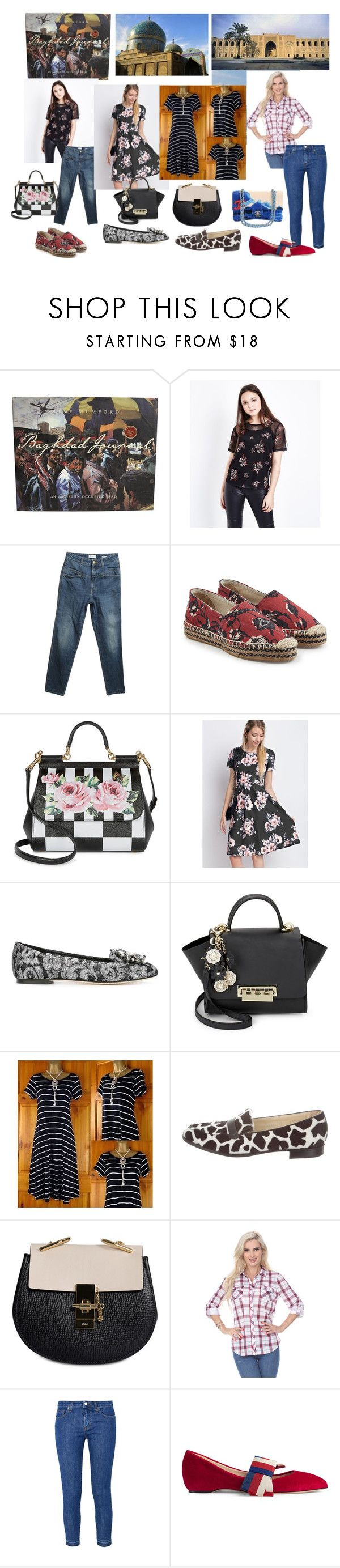 """Me, Stephanie, Genny and mum Baghdad visit"" by sarah-m-smith ❤ liked on Polyvore featuring New Look, Closed, Étoile Isabel Marant, Dolce&Gabbana, Jupe de Abby, ZAC Zac Posen, Sarah Flint, Chloé, 8 and Gucci"