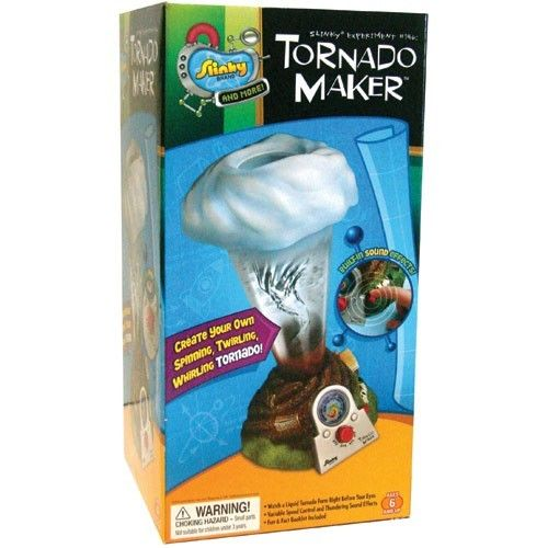 With this innovative Slinky's science toy your curious child will turn from a trouble maker into tornado maker. Manufactured by Slinky.