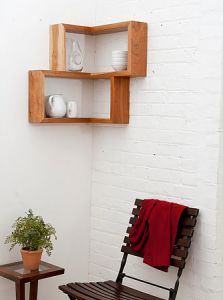 étagère d'angle réalisée par Tronk Design