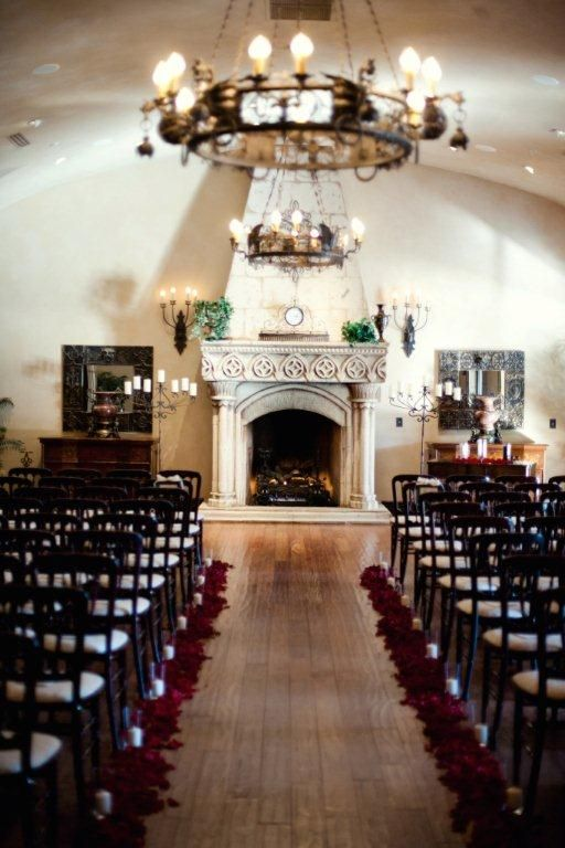 Beautiful Indoor Ceremony At Villa Siena Tuscan Elegance Phoenix East Valley Wedding