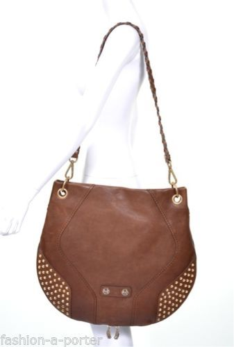 ALEXANDER-McQUEEN-STUDDED-COBRA-BROWN-LEATHER-HOBO-BAG-EXTRA-LARGE-VERY-RARE-BNT