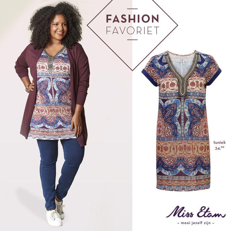 Ontdek onze fashion favoriet! Met een tuniek kun je alle kanten op. Mooi op een donkerblauwe jeans, maar ook op een lichte broek met ⅞ lengte. #missetam