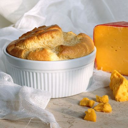 This French-inspired Cheddar Cheese Soufflé will bake up light and fluffy and can be served for brunch or as a savory side dish.